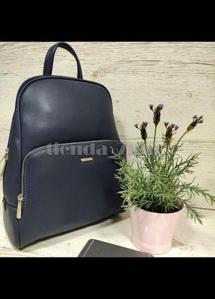 Стильный женский городской рюкзак david jones cm5485t синий