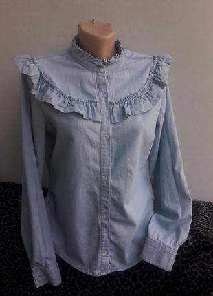 Джинсовая рубашка- блуза