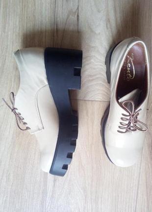 Стильные туфли kento из натуральной кожи