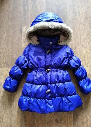 Пуховая куртка zara 2-3 года 92-98 см