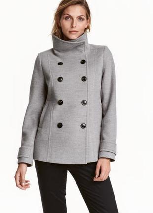 Двубортное пальто h&m