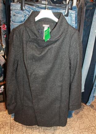 Шерстяное пальто h&m3 фото