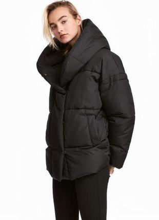 Трендовая курточка одеяло с капюшоном-воротником от h&m