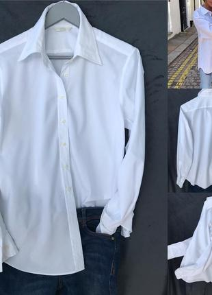Белоснежная рубашка m&s как новая оверсайз