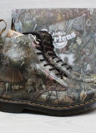 Кожаные мужские ботинки dr.martens 1460, размер 44.5 - 45 (картина, принт tate)