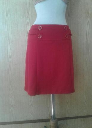 Вискозная красная юбка, xl .