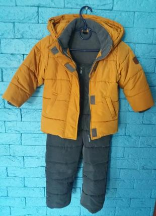 Красивый зимний комплект teplee net на мальчика рост 92-98 см