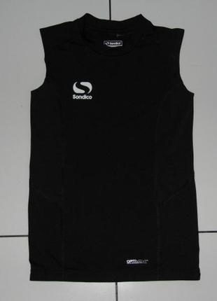 Термофутболка для спорта sondico optivent компрессионная черная 11-12 лет 146-152см