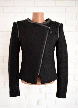 Очень крутой пиджак косуха из шерсти h&m uk10 новый без бирки