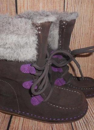 Clarks кожаные сапоги ботинки на девочку деми арт.2709