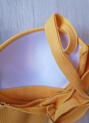 Купальник раздельный жёлтый6 фото