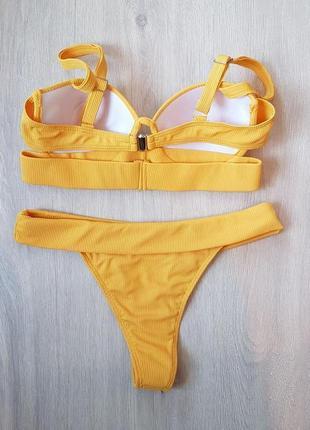 Купальник раздельный жёлтый4 фото
