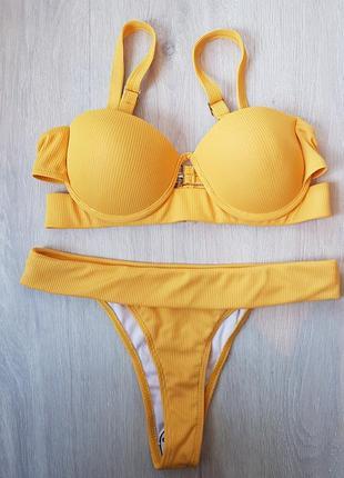 Купальник раздельный жёлтый3 фото