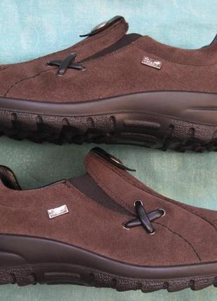 Rieker (37) замшевые мембранные кроссовки слипоны женские
