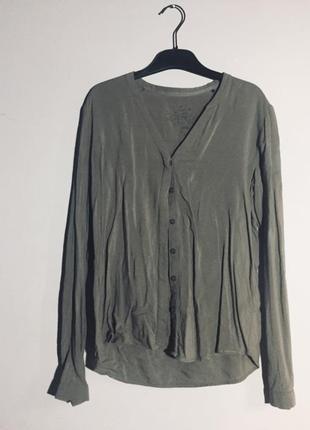 Приятная рубашка , блуза , цвет хаки eds esprit