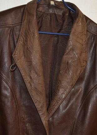 Женская кожанная куртока- пиджак