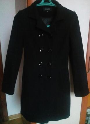 Пальто шерстяное с капюшоном осеннее, пальто шерстяне осіннє розмір s