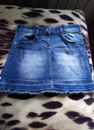Джинсовая юбка для девочки рост 128