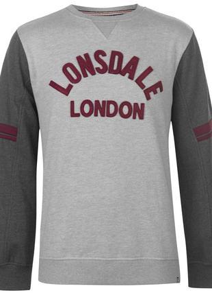 Lonsdale мужская толстовка свитшот в наличии англия оригинал
