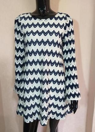 Кружевное платье на подкладе f&f uk 8 eur 36 наш 42 s