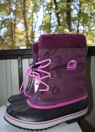 Зимние сапоги дутики сноубутсы снегоходы ботинки валенок съемный sorel