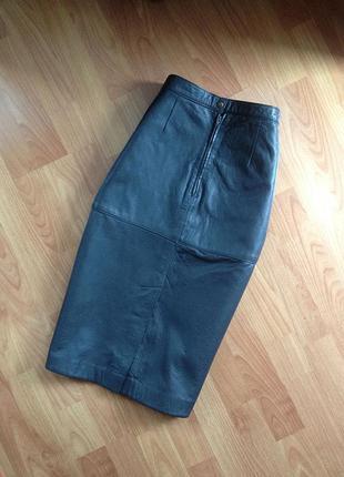 Натуральная кожанная юбка