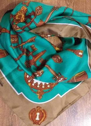 Vintage подписной шелковый платок