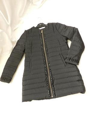 ✅  стёганое пальто куртка с камнями евро зима размер 46-48