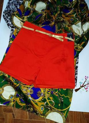 Модные женские шорты с поясом р хл