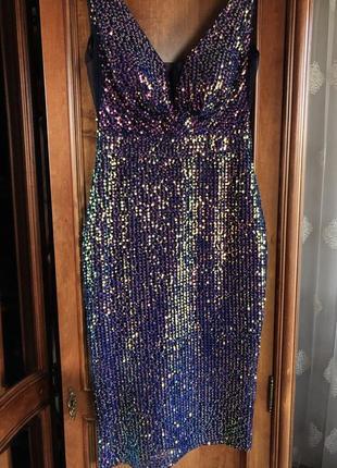 Платье вечернее  из пайеток