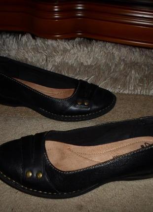 Качество clarks soft.обалденные комфор.бренд.туфли,кожа,англия