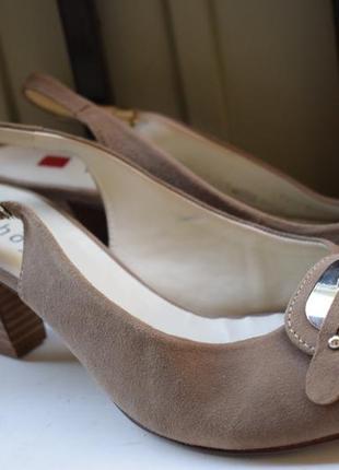 Замшевые босоножки сандалии лодочки сандали на широкую