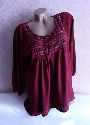 Шикарная блузочка, принт  вышиванка