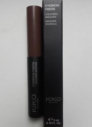 Kiko milano оттеночная тушь для бровей eyebrow fibers coloured mascara