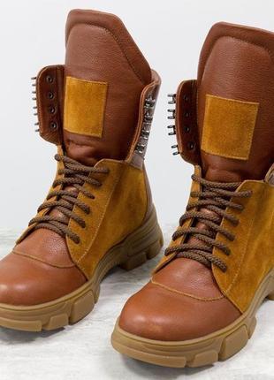 Эксклюзив!кожаные ботинки
