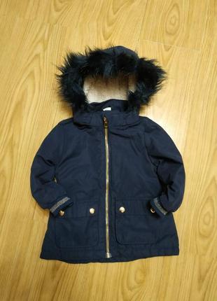 Куртка парка h&m на 12-18 мес.