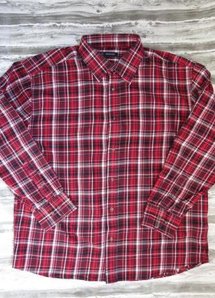 Мужская рубашка с длинным рукавом в клетку тм avenue