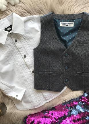 Набор рубашка h&m жилетка next 18-24 мес 1,5-2 года