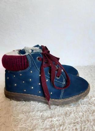 Miho ikado деми ботинки сапоги шнуровка утеплены с заклепками