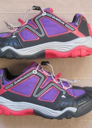 Quechua crossrock (32) треккинговые мембранные кроссовки детские