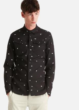 Мужская рубашка 100% котон g-star raw arc 3d shirt оригинальный принт