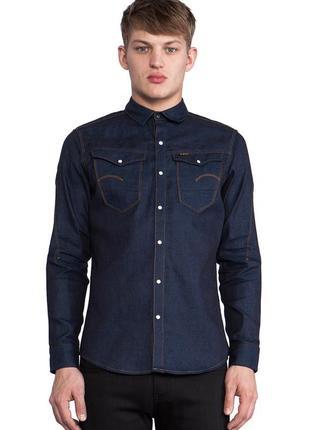 Мужская рубашка 100% котон g-star raw