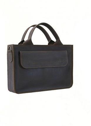 Мужская деловая кожаная сумка для документов а4