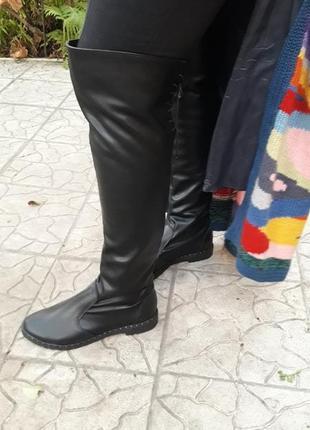 Кожаные батфорты сапоги