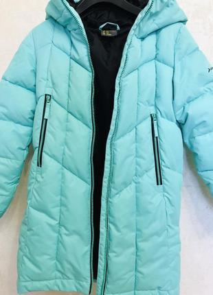 Зимний пуховик demix 140 размер