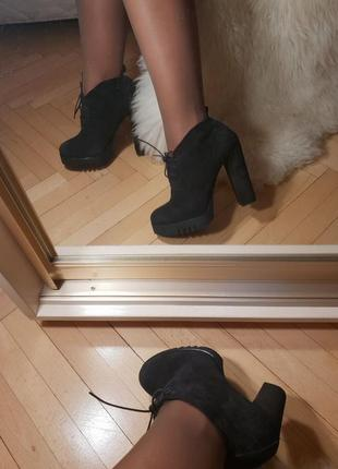 Шикарные ботиночки на удобном каблуке натуральная кожа натур замша р 38
