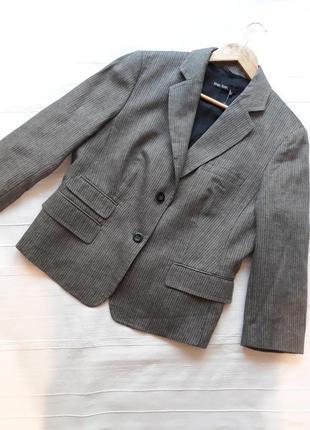 Marc aurel новый брендовый жакет#пиджак#блейзер шерсть#лен, в полоску.