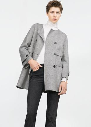 Пальто френч зара zara размер с
