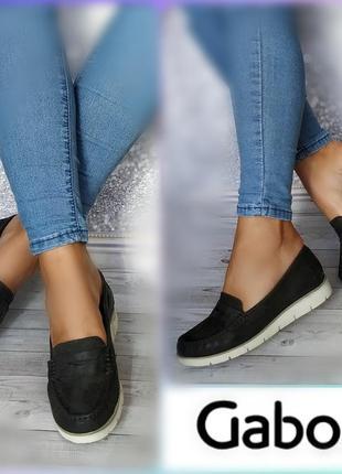 37р кожа! новые gabor германия туфли лоферы,мокасины