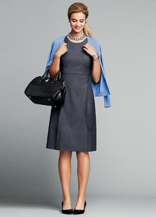 Офисное платье трапеция а-силуэта h&m